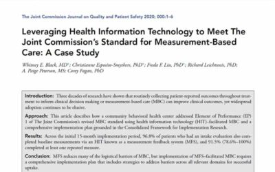 Leveraging Health Information Technology to Meet The Joint Commission's Standard for Measurement-Based Care: A Case Study